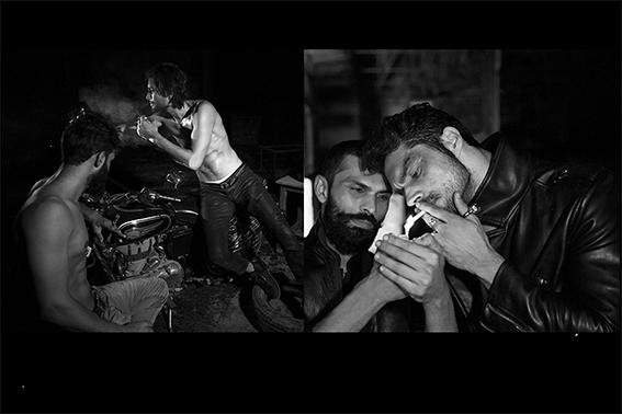 On Ashok JeansBlue Jeans Gas,belt Levis On Himanshu Jeans Lee Cooper and shoes Zara,Belt Black Hawk On Fakira patchwork leather and khadi jacket, Rajesh Pratap Singh shirt, Rajesh Pratap Singh On Himanshu leather jacketDiesel Silver rings, Rajesh Pratap Singh